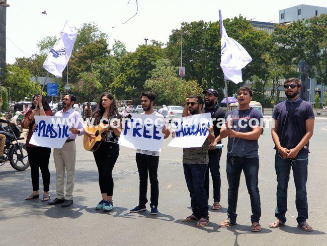 Chhatra Sansad launched unique campaign in Vadodara