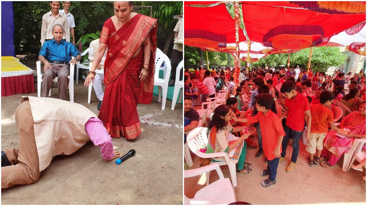 Guru Purnima celebrations at Prince Ashokaraje Gaekwad School