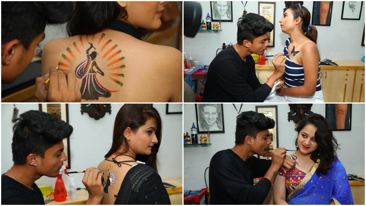 Waterproof tattoos latest craze in this year Navratri