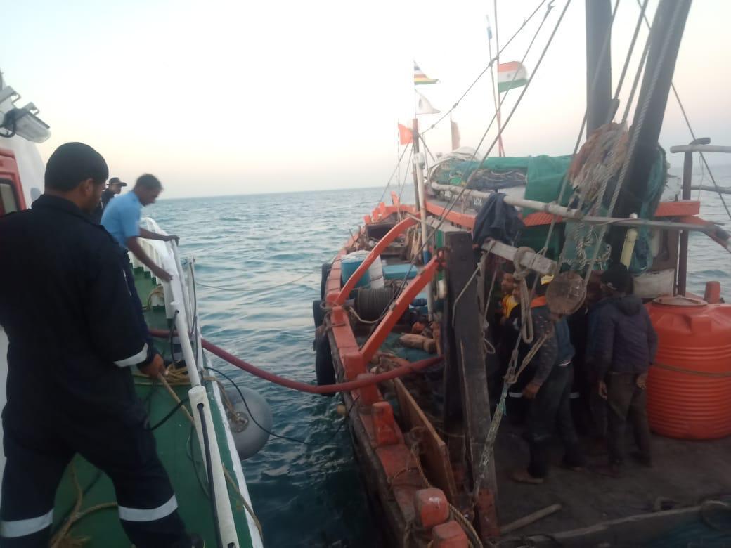 Indian Coast Guard rescues fishing boat Subhamurti