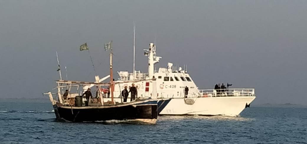 Indian Coast Guard and Gujarat ATS apprehended Pakistani boat Jamjam