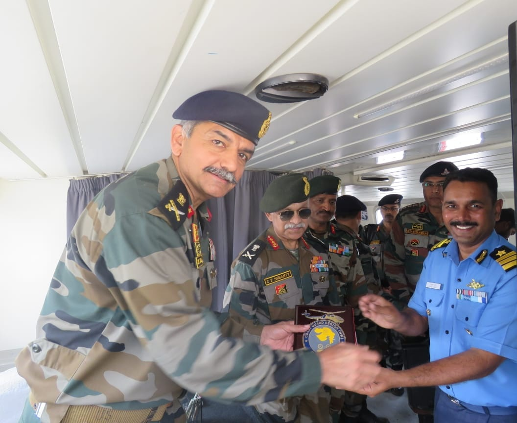 Lieutenant General CP Mohanty visited Bhuj Military Station including Rann and Creek areas