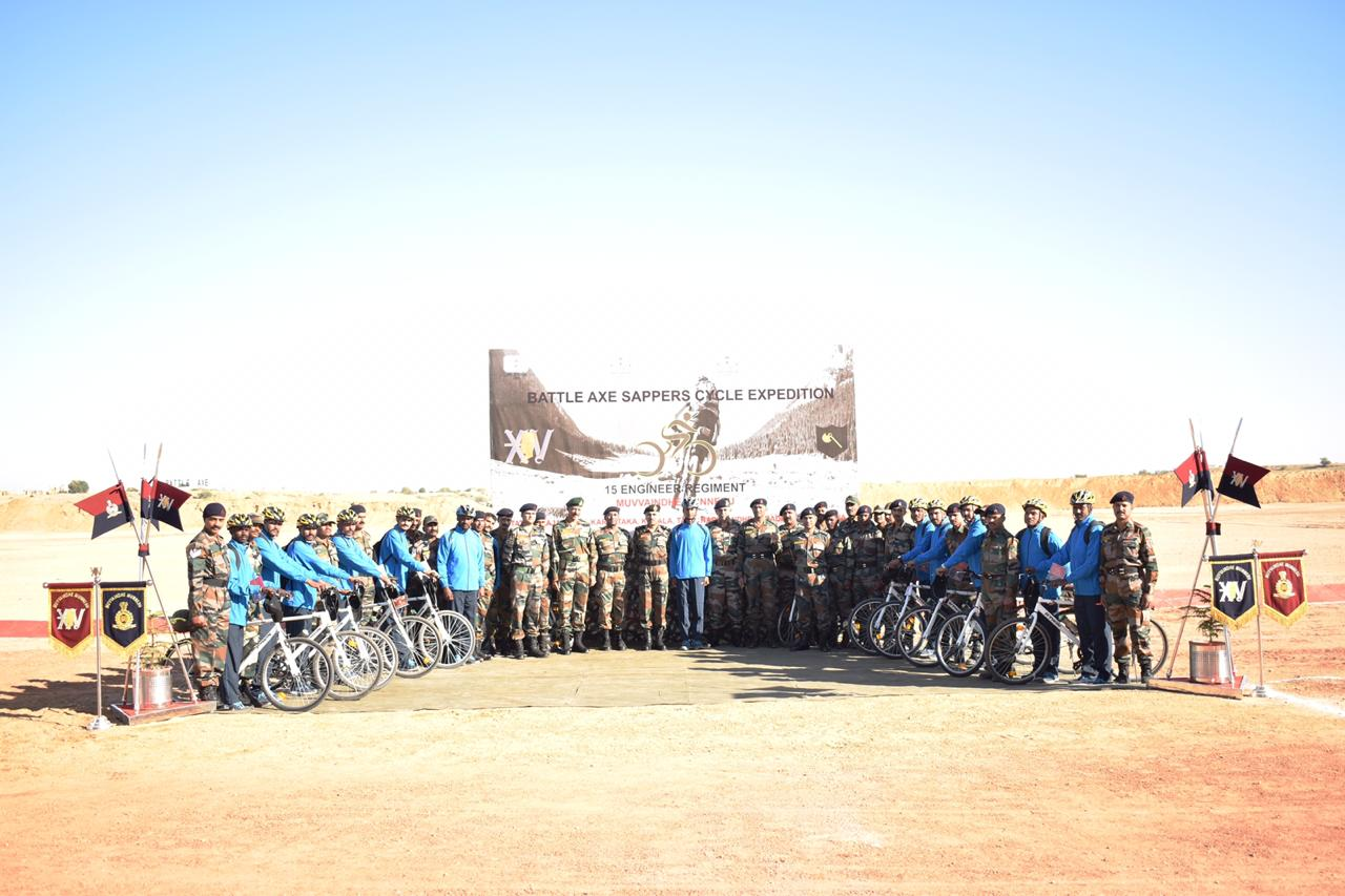 Next of kin outreach cycle expedition flagged in at Jaisalmer