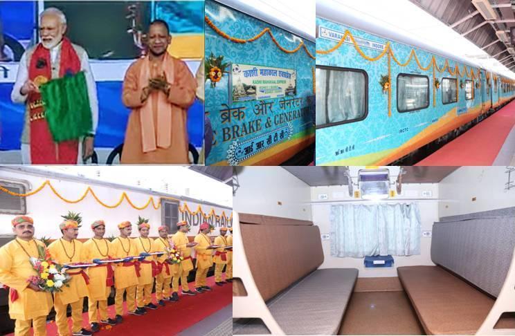 PM Narendra Modi flagged off Kashi Mahakal express between Varanasi and Indore