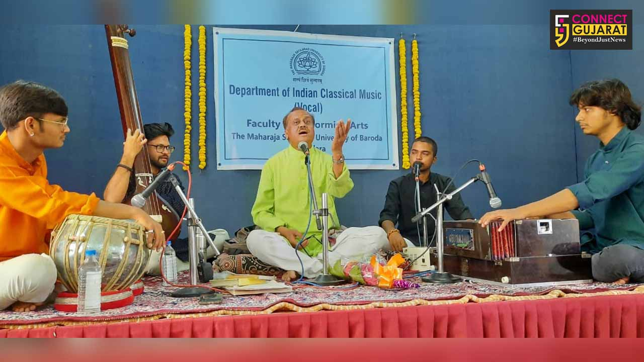 Department of Vocal music FPA MSU Baroda organized three day sessions of music