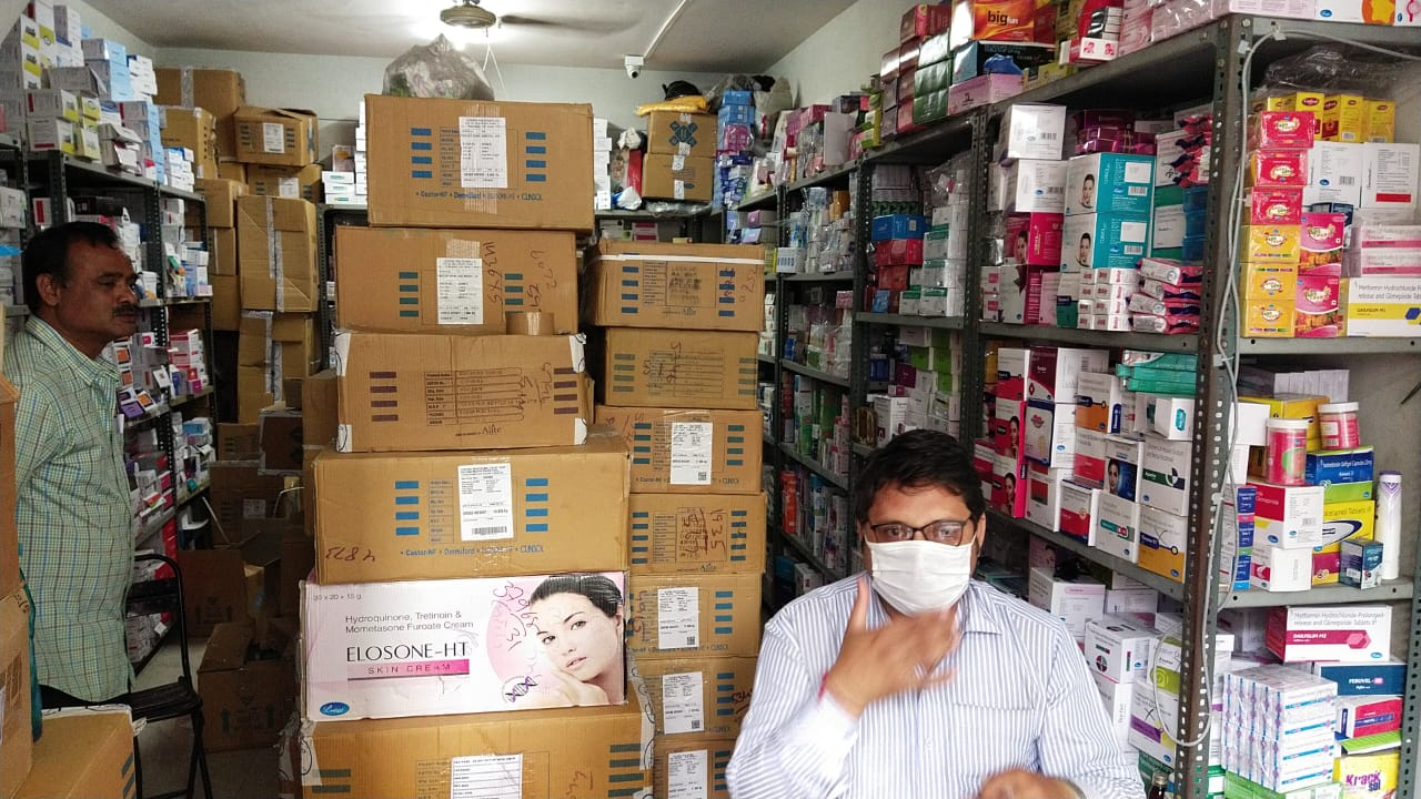 Food and Drugs department checking at medical stores in Vadodara
