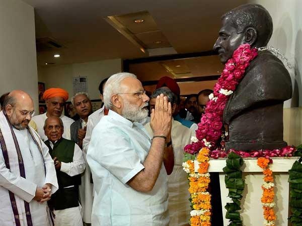 PM Modi to address BJP workers from all over India on Pandit Deendayal Upadhyaya's birth anniversary today