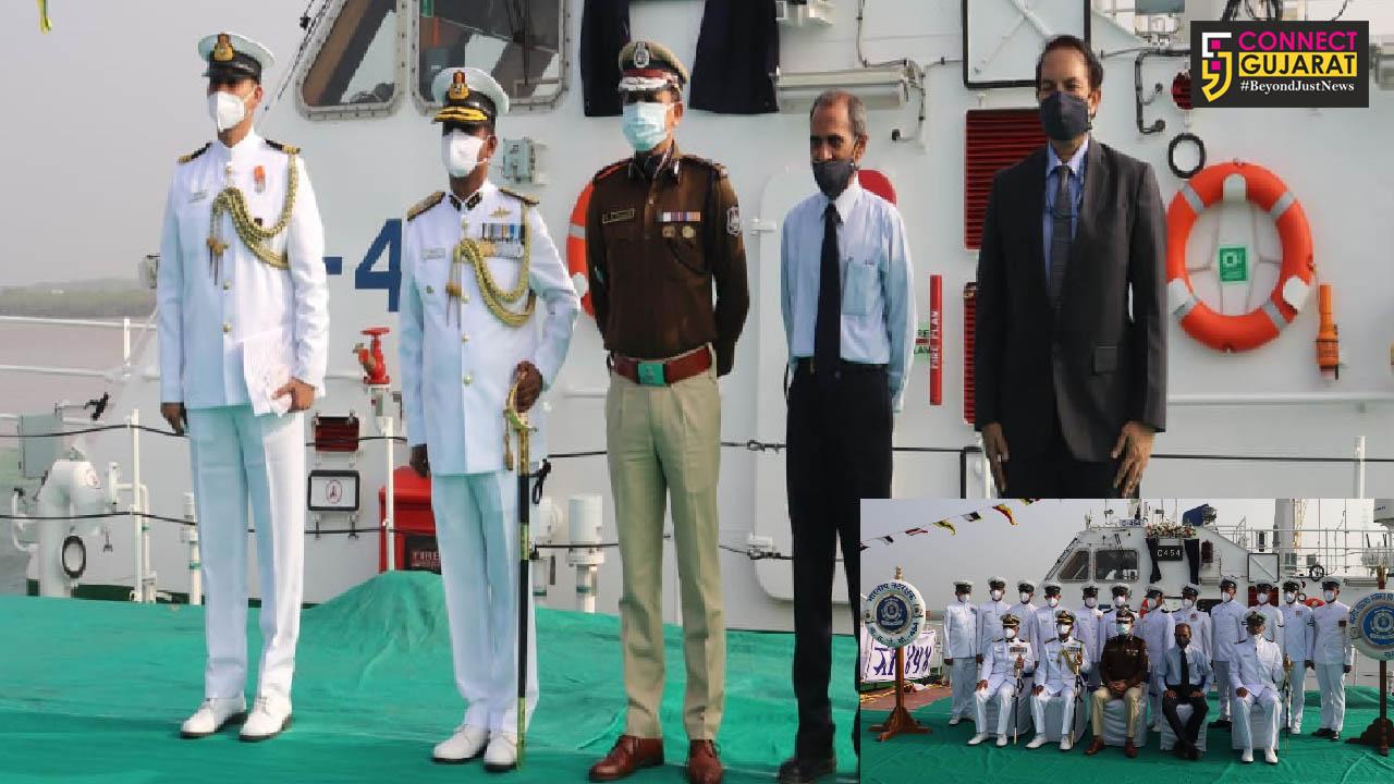 Indigenously built ICG interceptor boat commissioned at Hazira