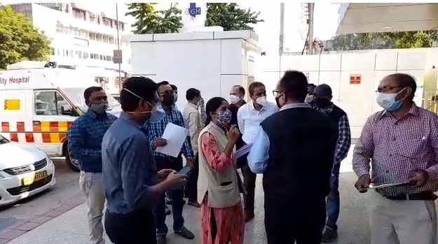 Team of Fire Safety Audit Committee reached Vadodara