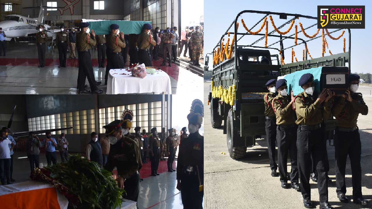 Homage paid to soldier at Ahmedabad airport