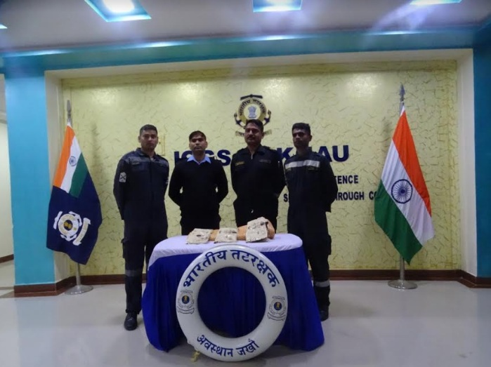 Indian Coast Guard recovers narcotics substance off Jakhau in Gujarat