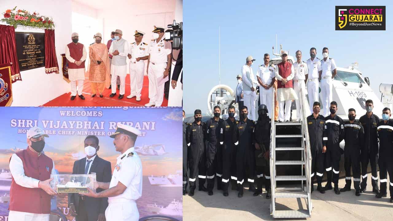 Gujarat CM Vijaybhai Rupani inagurates Indian Coast Guard Married Accommodation at Okha