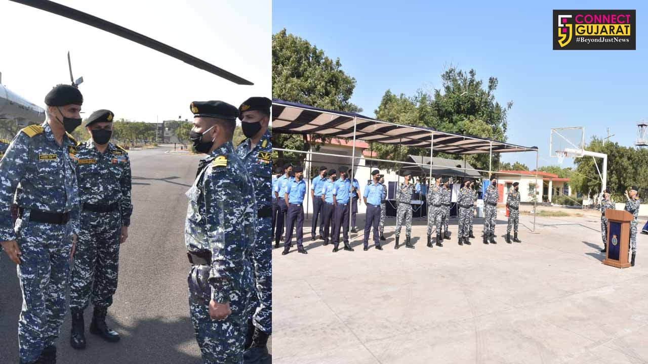 Navy chief visits Gujarat Daman and Diu Naval area