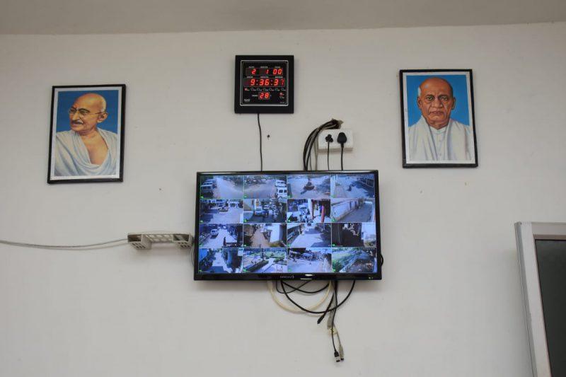Ankodia Gram Panchayat monitors compliance with Corona's guideline through CCTV network