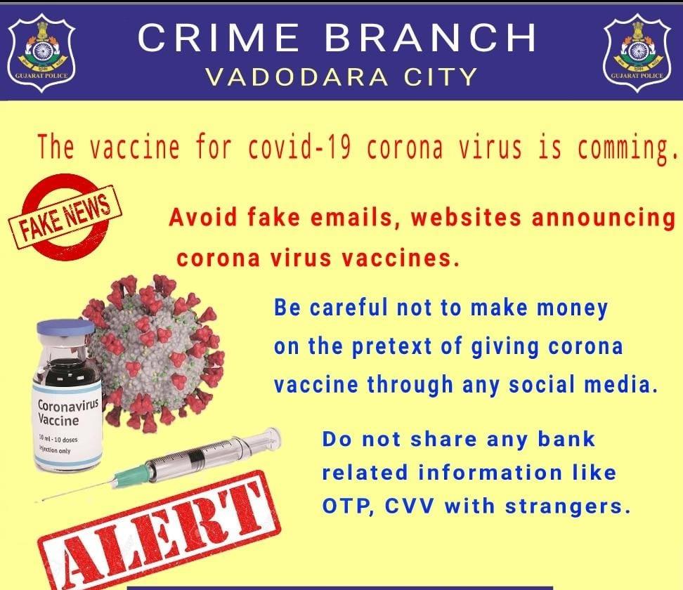 Vadodara police spread awareness regarding Coronavirus vaccine announcement