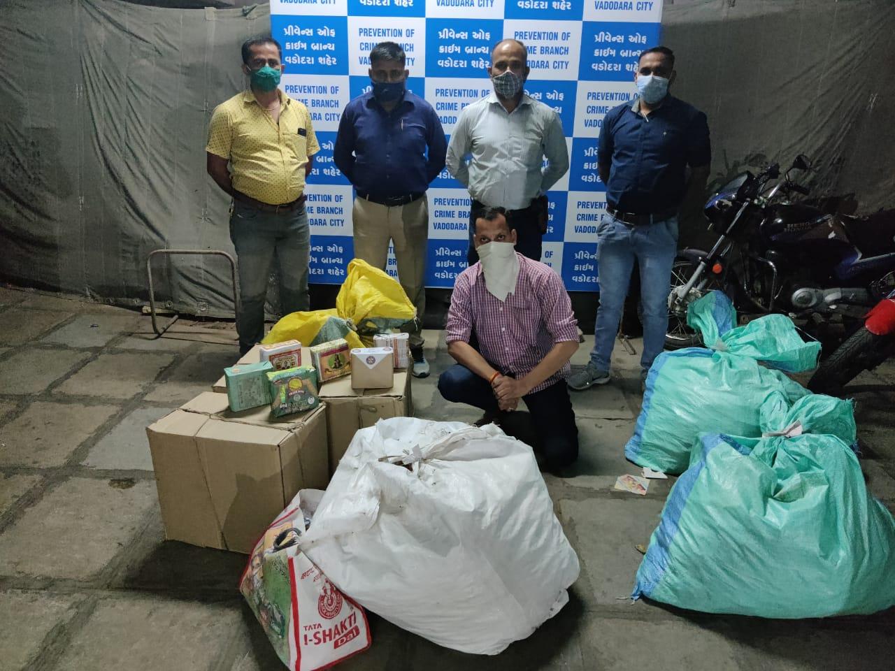 Vadodara PCB caught duplicate beedi godown in Sayajigunj area of the city