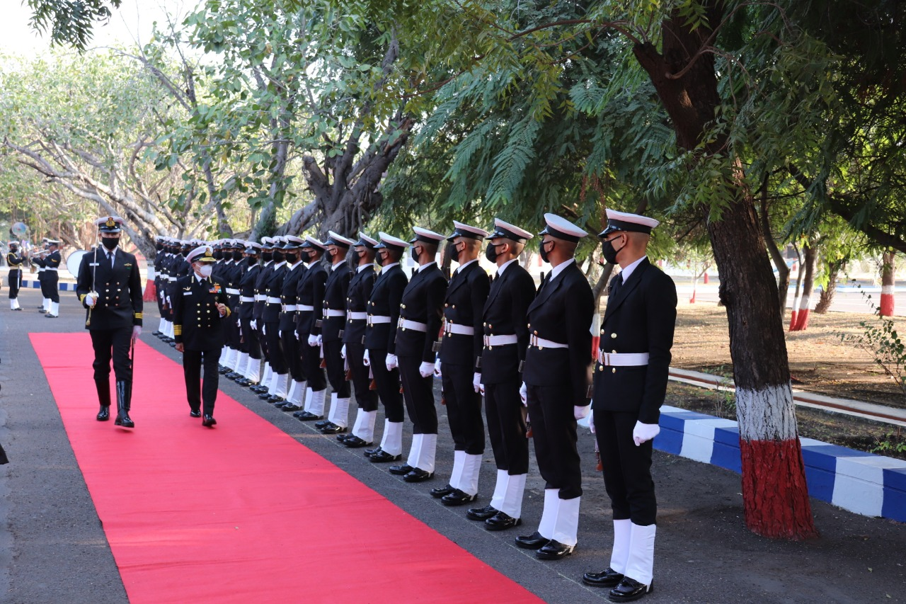 Vice Admiral Anil Kumar Chawla Flag Officer Commanding-in-Chief visits INS Valsura