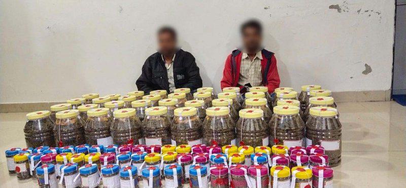 Vadodara rural SOG caught two persons with 78 kilos of Ganja