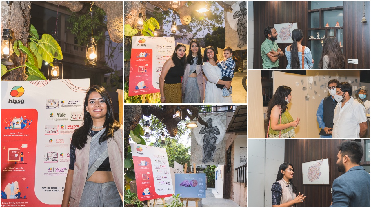 Hissa Art's 'Enduring Minds' showcased the best artistic works of Surat