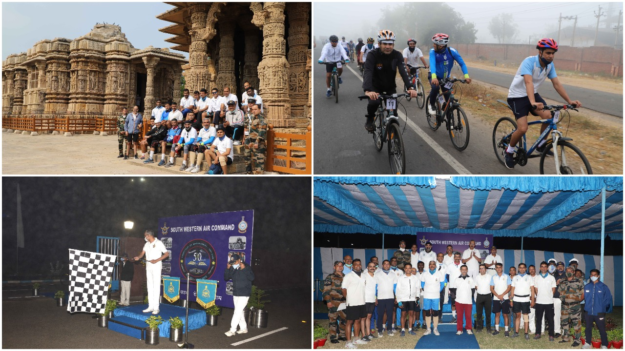 SWAC conducts cycle rally to commemorate Vijay Diwas