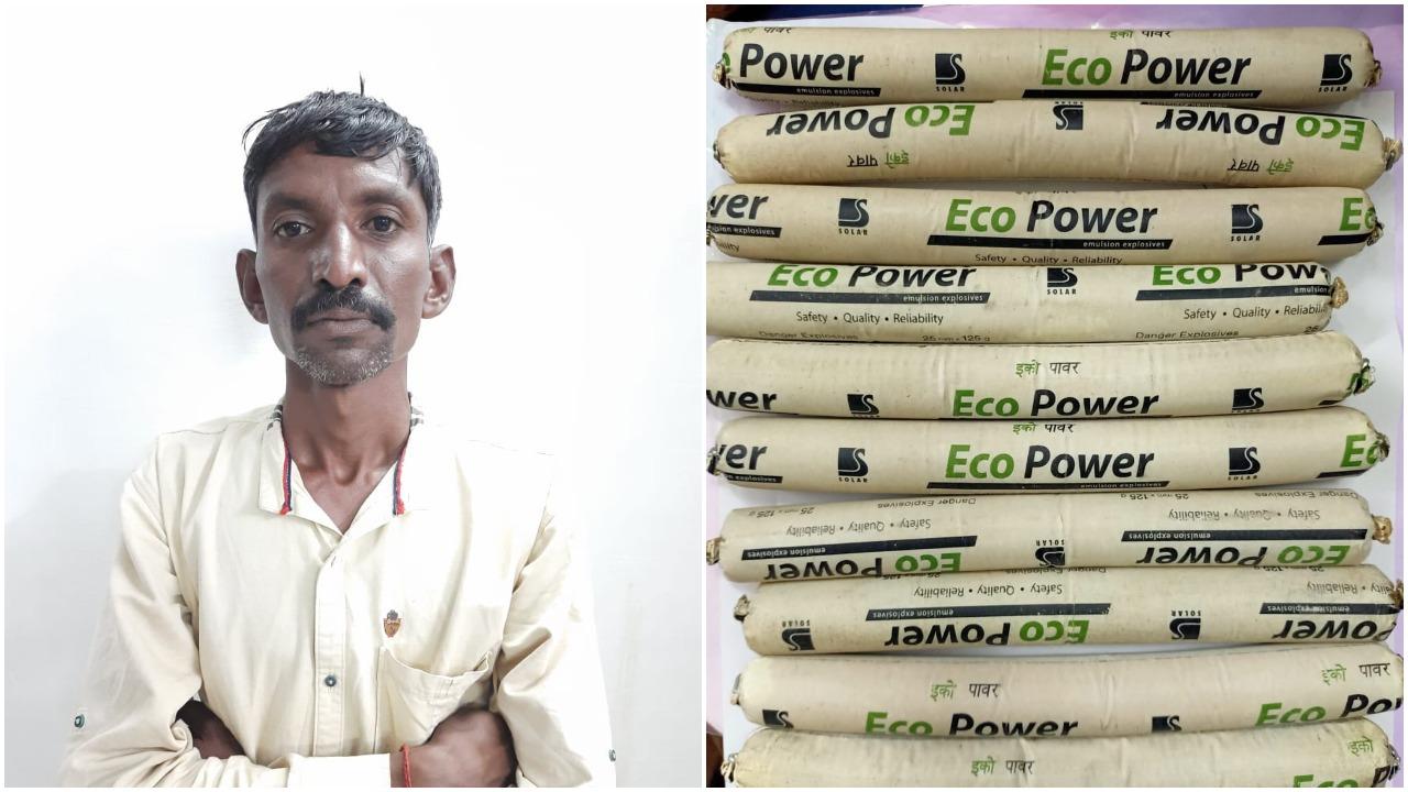 Vadodara district SOG caught one carrying detonators for fishing inside Mahisagar river