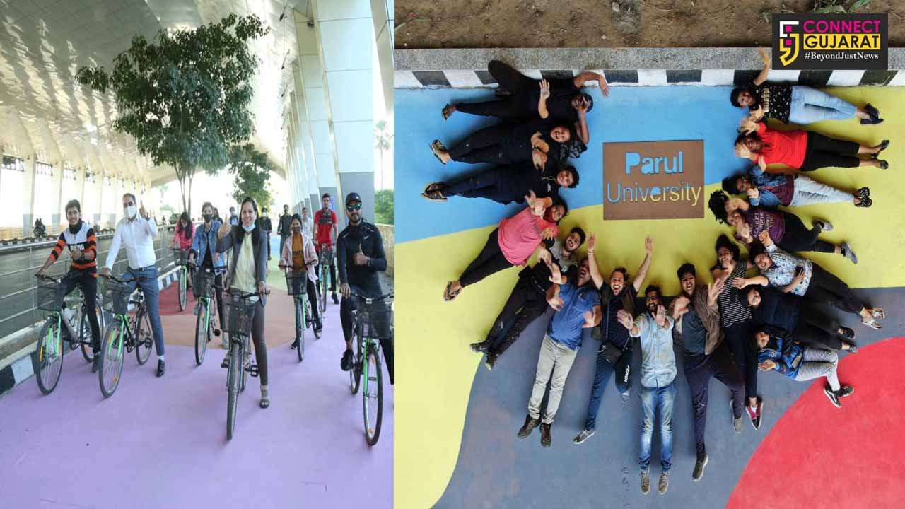 Students of Parul University have conceptualized and executed first of its kind pilot project Cycles4Change