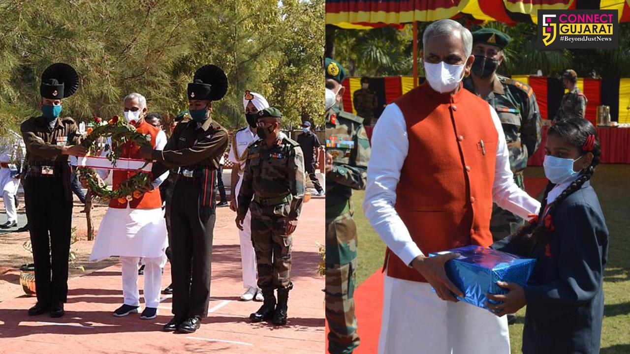 Governer of Gujarat visits Bhuj Military station