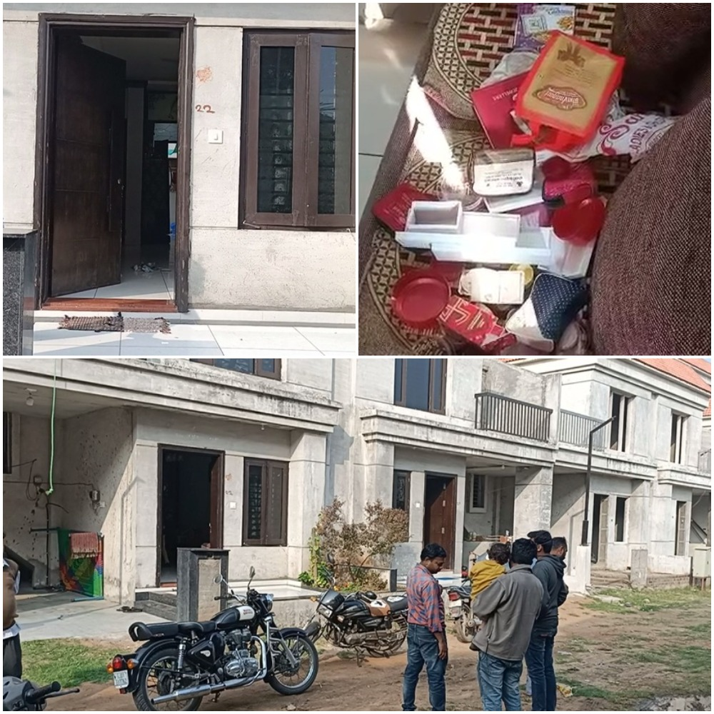 Thieves struck in Shubham bungalows on Padra Jambusar road