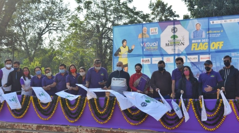 MGVM Virtual Marathon 2021 flagged off virtually by CM of Gujarat Vijay Rupani