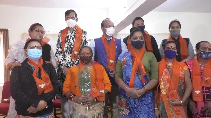 Members of transgender community joined BJP in Vadodara