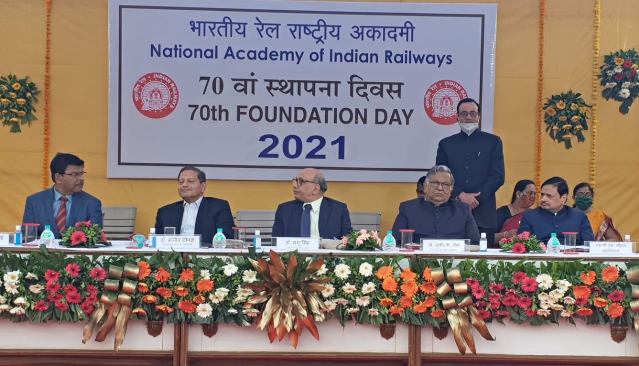 National Academy of Indian Railways celebrated its 70th Foundation Day on Sunday