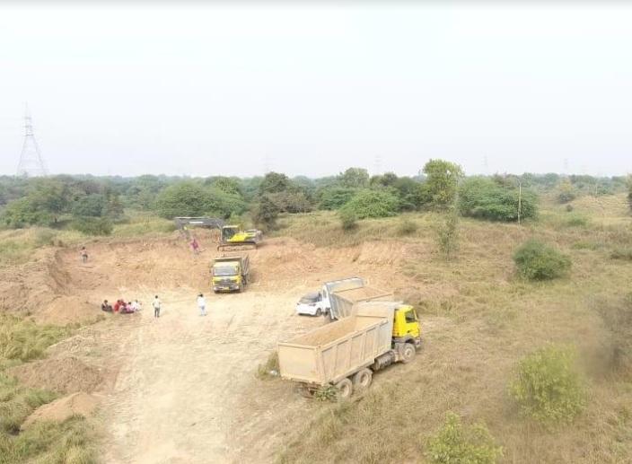 Drone surveillance to prevent irregularities in soil mining and transportation in Vadodara taluka