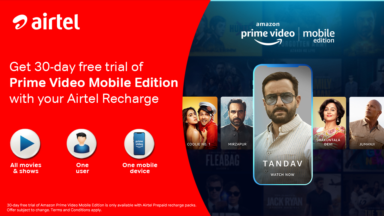 Amazon launches its worldwide first mobile-only video plan in India: Prime Video Mobile Edition