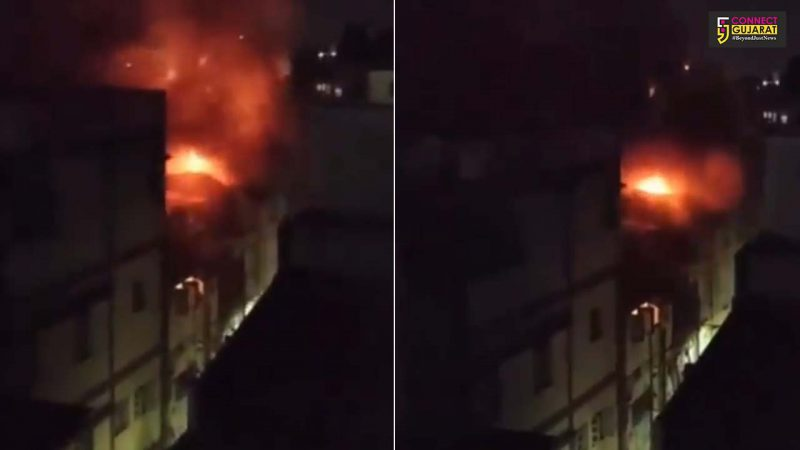 Fire broke out inside Mangal bazaar in Vadodara