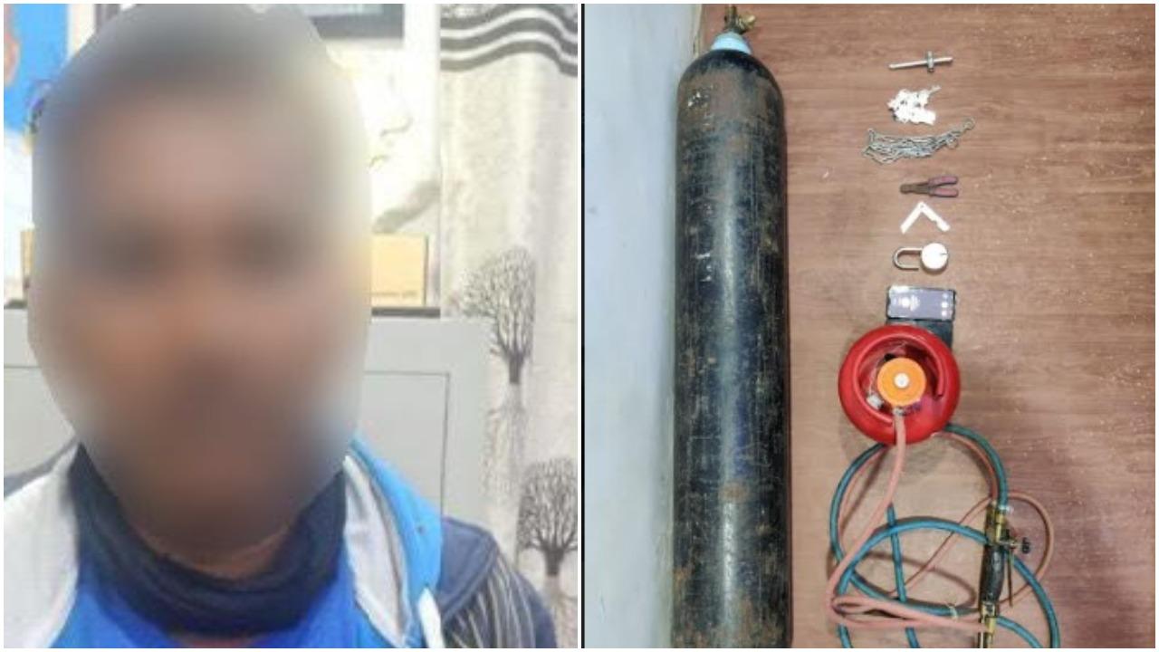 Vadodara taluka police caught habitual thief tried to break the ATM near Samiyala village