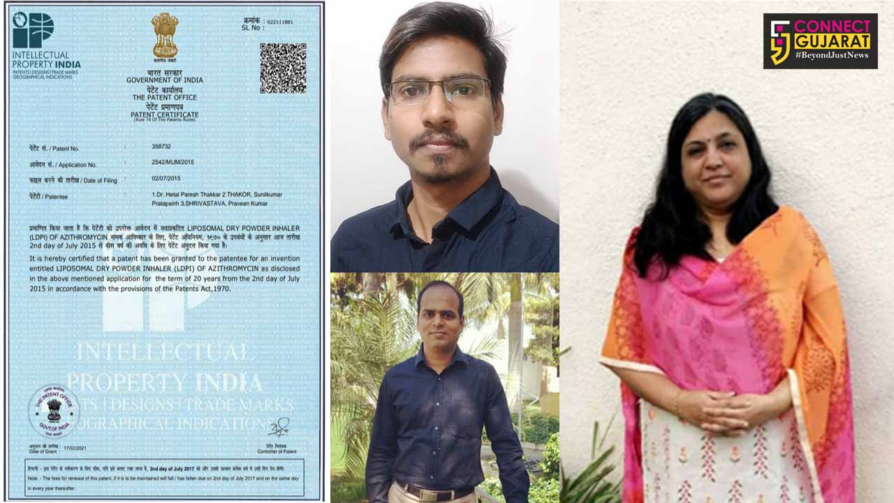 MSU professor and students granted Indian Patent for their invention on LDPI of Azithromycin for treatment of respiratory infection
