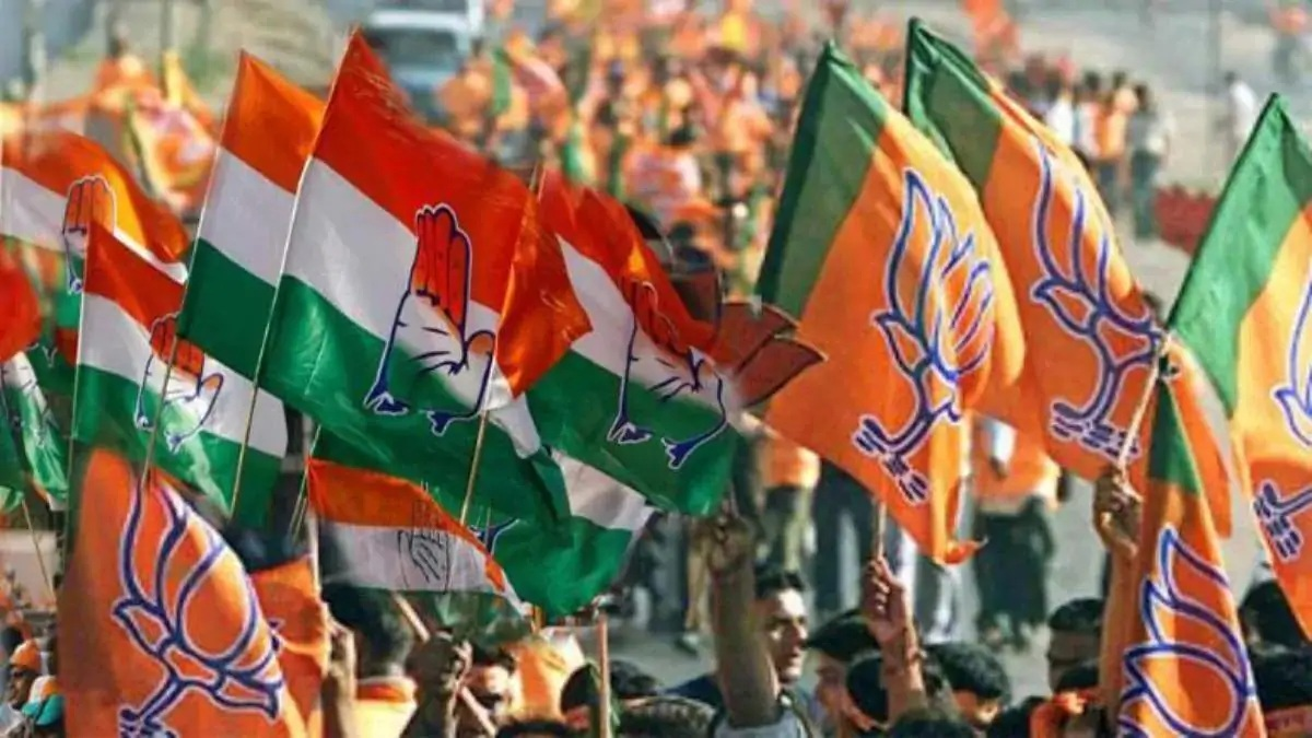 Supporters of BJP and Congress clashed in Vadodara during election rallies