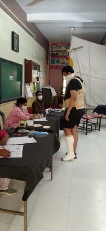 Father son duo injured in different accidents fulfilled the sacred duty of voting