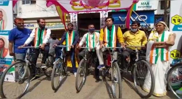 Unique election campaign by Congress candidates of Ward 6 in Vadodara