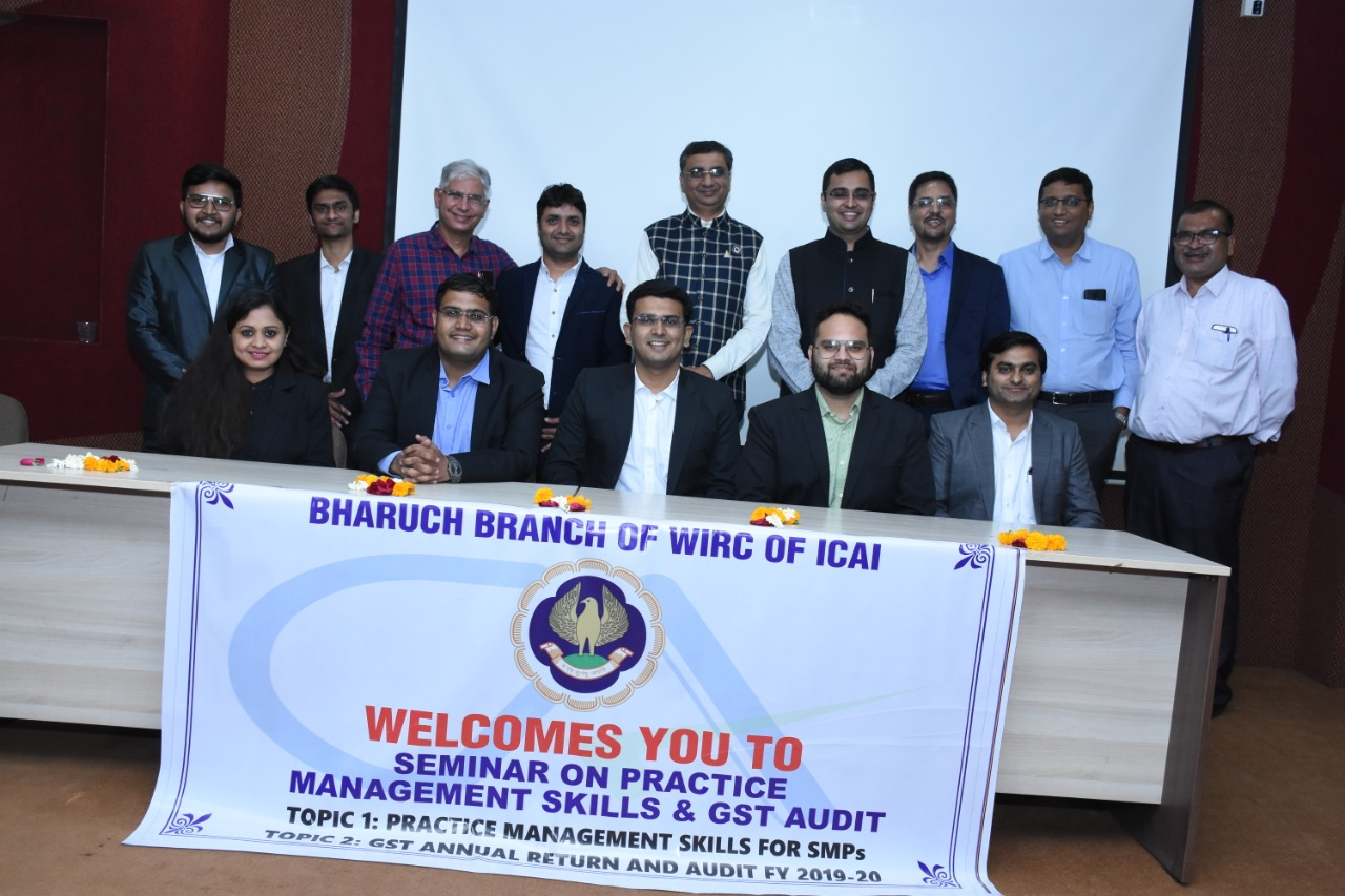 Bharuch branch of ICAI had a programme for change in managing committee team for 2021-22