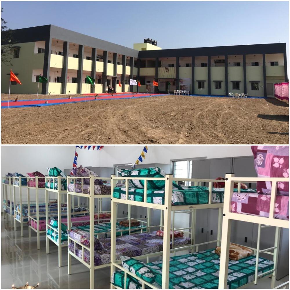 Boys hostel facility at Lok Vidyalaya School in Lamdapura village near Savli