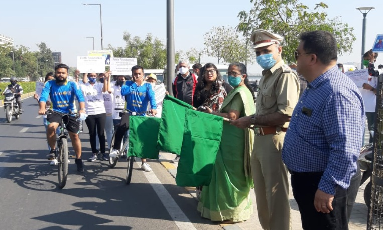 Cycle Ride from Sabarmati to Dandi organized by Faith Foundation
