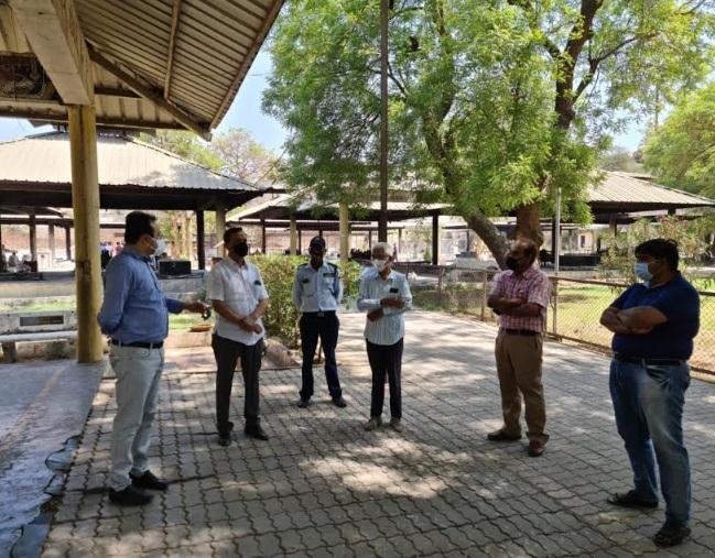 OSD Dr. Vinod Rao visited various crematoriums in Vadodara