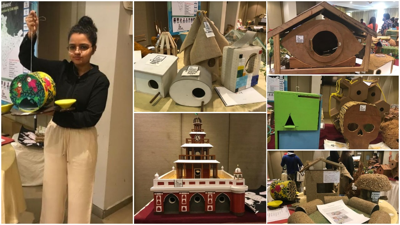 Competition to create best house for the little sparrow in Vadodara