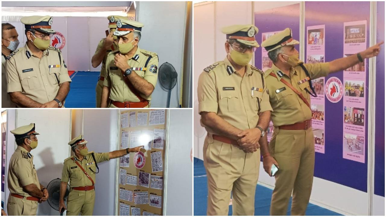 Gujarat DGP Ashish Bhatia on a visit to Vadodara on Friday