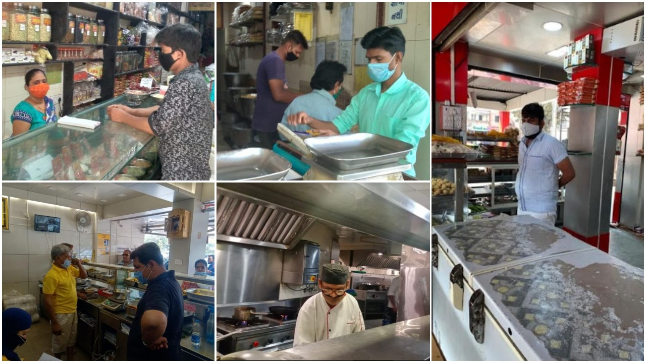 Vadodara Health department raids on food and beverage business for strict adherence to Covid-19 guideline