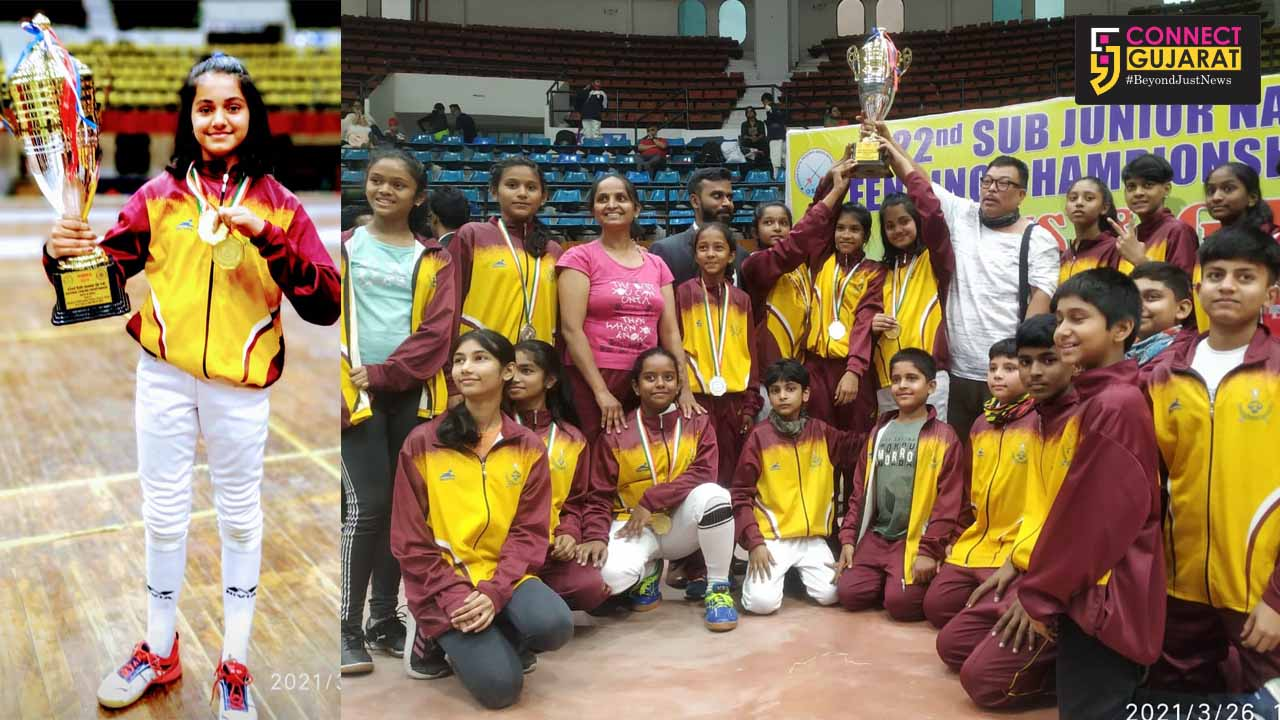 Daughter of Army Colonel won women Gold medal in 22nd Sub Junior National Fencing Championship
