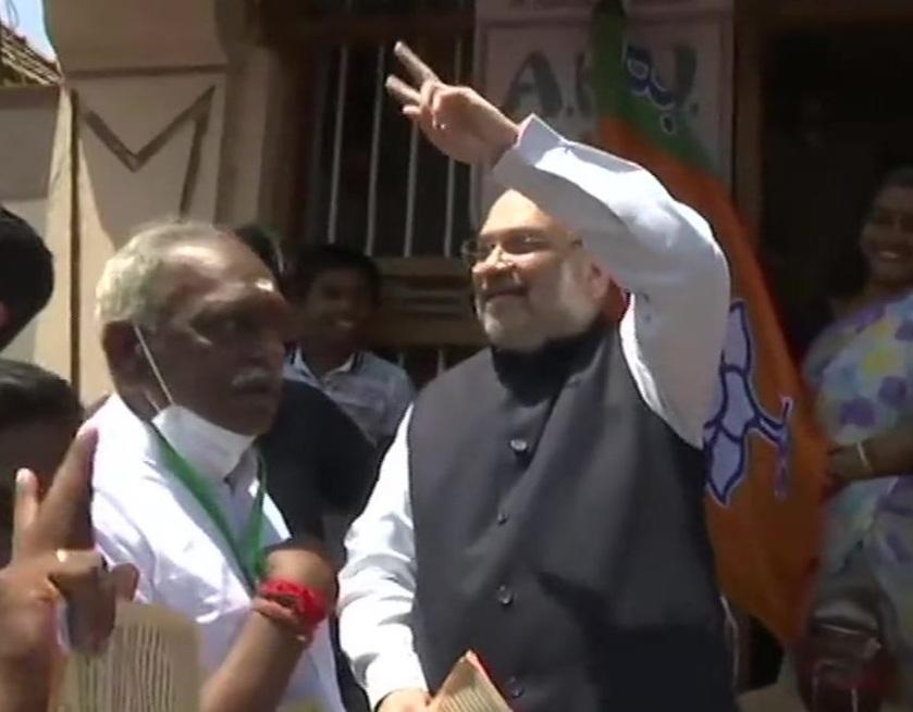 Amit Shah holds door-to-door campaign in Kanyakumari after temple visit