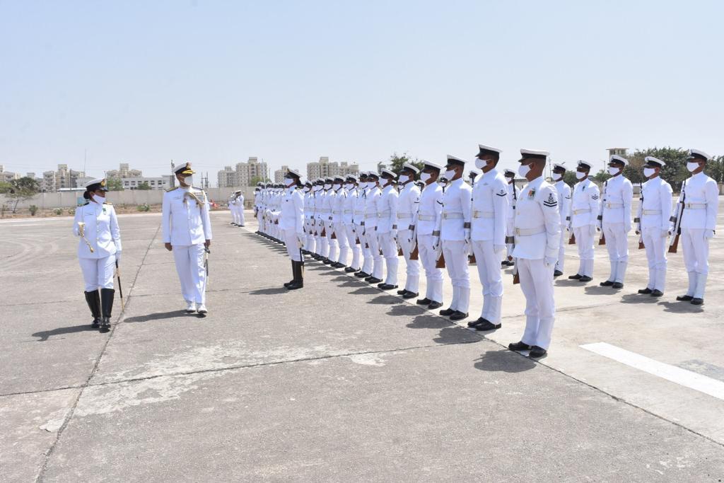 Vice Admiral R Hari Kumar visited Gujarat Naval Area