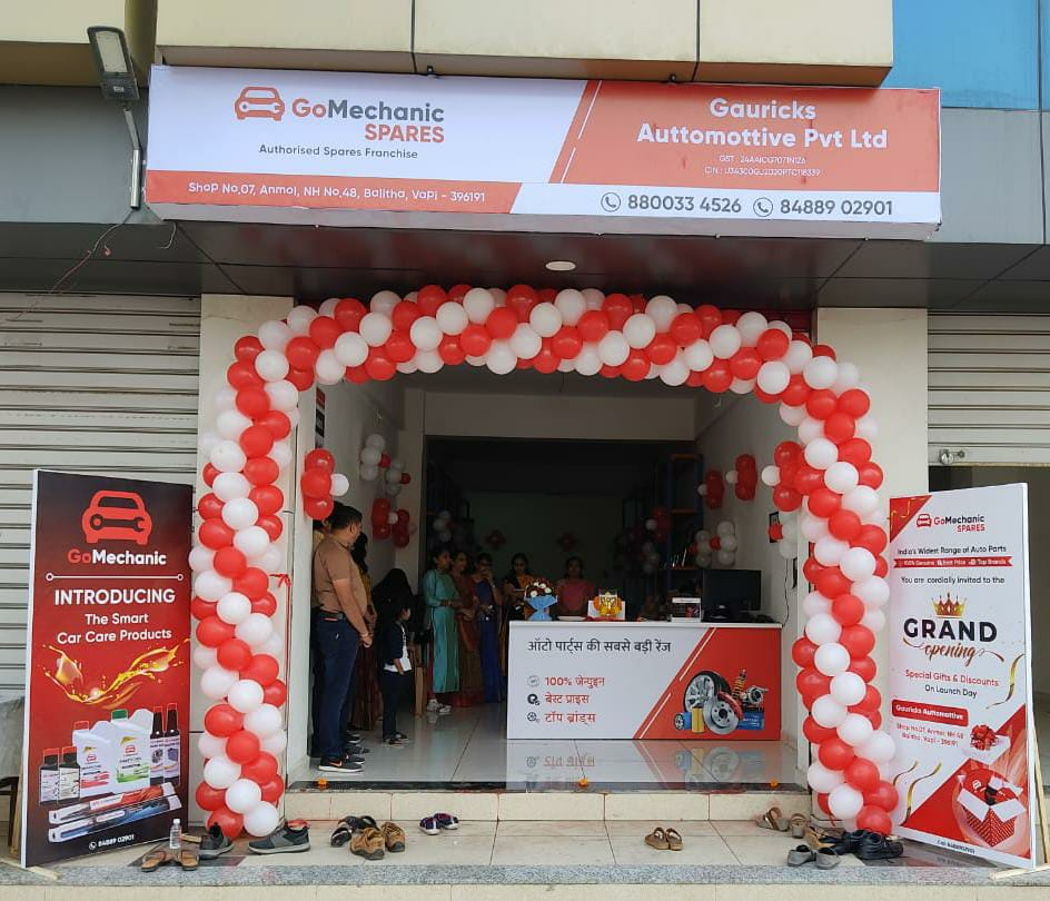 No more hassles for auto part retailers and workshops; Automobile service provider GoMechanic opens a new spare parts franchise outlet in Vapi
